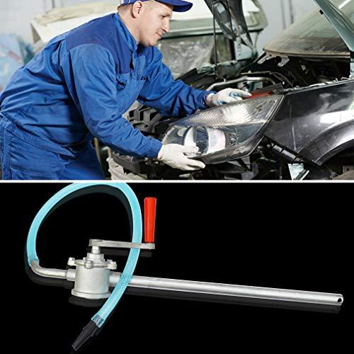 Leoboone Handkurbel Aluminiumlegierung Ölpumpe Auto LKW Heizöl Benzin Diesel Transfer Handpumpe Saugwasser Chemische Flüssigkeitspumpe -
