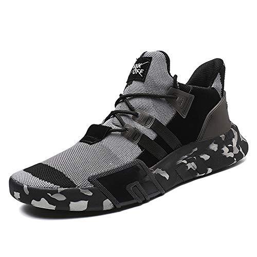 Sunday Laufschuhe Herren Camouflage Sportschuhe,Männer Joggingschuhe Mode Walkingschuhe Atmungsaktiv Trainers Basketballschuhe Sportbekleidung 38-45 -