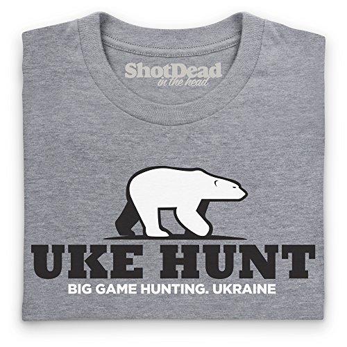 General Tee Uke Hunt T-Shirt, Herren Grau Meliert