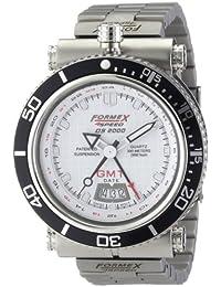 Formex 4 Speed 20003.2011 - Reloj analógico de cuarzo para hombre con correa de acero inoxidable, color plateado