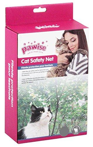 Pawise Schutznetz Katzenschutznetz Katzennetz Balkonnetz Transparent 4 x 3 Meter