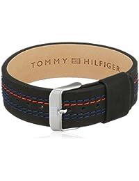Tommy Hilfiger venden Herren-pulsera para hombre Casual cuero y acero inoxidable 21.6 cm - 270068