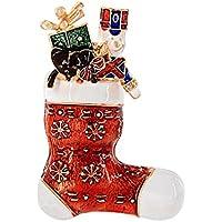 Hosaire 1X Joyas Broche Ramillete De Goteo Copo De Nieve De Navidad Calcetines De Color Adornos