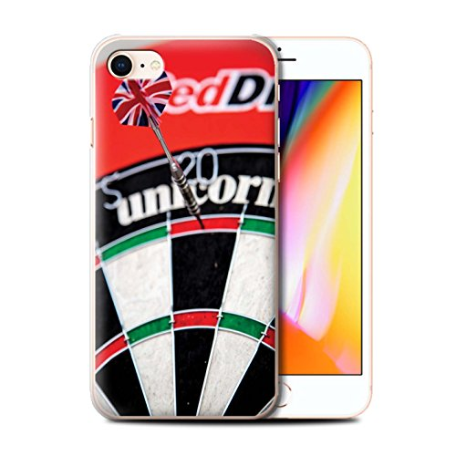 Stuff4 Hülle / Case für Apple iPhone 8 / Dartscheibe Muster / Darts Foto Kollektion Tops/Doppel 20