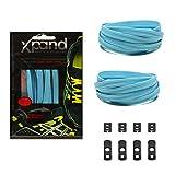 Xpand® lacets de chaussures-Pas-Noeud-lacets élastiques plats + Tension réglable-convient pour tous les types de chaussures