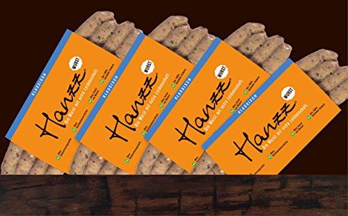 Hanzz Wurst klassische Bratwurst – Grillwurst: 16 x Gourmet Wurst mit 81 % Fleischanteil ohne