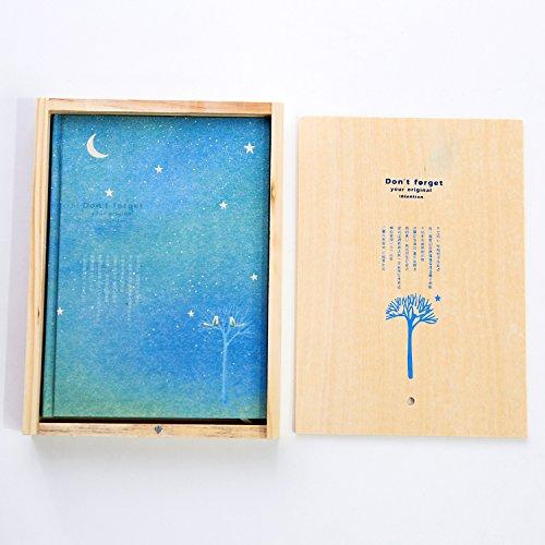WRITIME Notizbuch A5 Schreibwaren exquisite Färbung Seite Abbildung: Holzkiste notebook Hand gemalte Tagebuch Geschenk