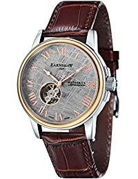 Thomas Earnshaw Beagle Men's Automatic Watch with White Dial Analogue Display with Brown Leather Strap ES-0031-03