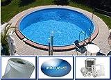 Summer Fun Stahlwandbecken Set Java Exklusiv rund ø 6,00m x 1,50m Folie 0,6mm Spar Set Pool Rundpool / 600 x 150 cm Stahlwandpool
