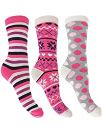 Calcetines térmicos ricos en algodón para mujer (3 pares)