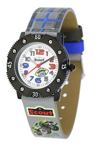 Scout Jungen Analog Quarz Uhr mit Lederimitat Armband 280316008