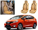 Auto Pearl - Premium Quality Car Wooden Bead Seat Cover For - Honda Jazz 2015 - Set of 2Pcs