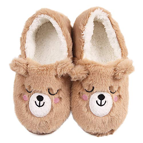 Caramella Bubble Fox Fleece Slippers Winter Wool Furry Plush Indoor/Outdoor Slippers