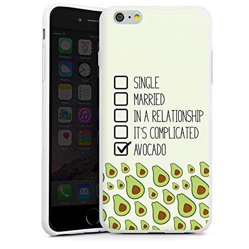 Apple iPhone X Silikon Hülle Case Schutzhülle Avocado Spruch Muster Silikon Case weiß