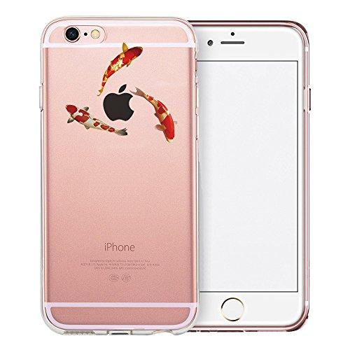 Coque iPhone 6S Plus, TrendyBox Transparent PC Hard Cover avec soft TPU Pare-chocs pour iPhone 6/6S Plus avec verre trempe film de protection (Danseuse de ballet) 119