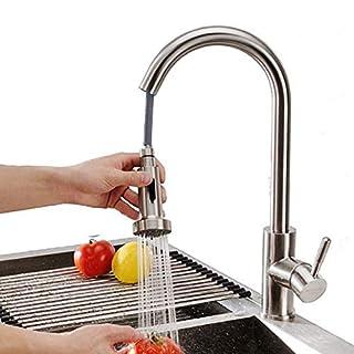 Homelody 360° drehbar Wasserhahn Küche Armatur ausziehbar Mischbatterie Einhebelmischer Spültischarmatur Küchenarmatur mit brause Einhand Küchenspüle