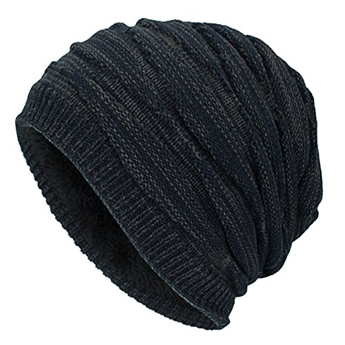 1674110202d iParaAiluRy Warm Oversized Beanie Hat - Long Slouch Beanie Knitted Hat For  Women Men - Winter
