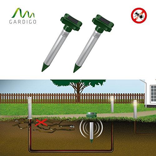 Gardigo Solar Ameisenabwehr 2er Set, Ameisenvertreiber für Rasen, Blumentöpfe Sandkästen, Ameisenfrei, hilft gegen Ameisen | Deutscher Hersteller