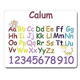 Funktionshose Calum X–personalisierbar Kids Alphabet und Zahlen Educational Premium Mauspad (5Dick).