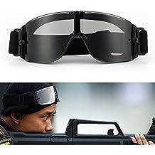 Gafas para ciclismo; gafas gafas tácticas de motocicleta; gafas ajustables de Airsoft; gafas