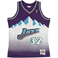 Mitchell & Ness Karl Malone # 32 Utah Jazz 1996 – 97 Swingman NBA Camiseta Lila