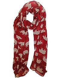 Red Rhino Scarf Ladies Fashion Scarves