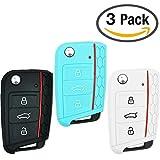 Keycarry® 3 PACK Silikon Auto Key Cover, Halter | Schlüsselhülle, Fernbedienung Schlüsselcover | Universal Zubehör