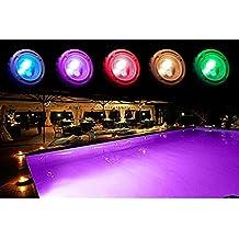 Foco para piscina RGB + blanco 36LEDs empotrable 95x 90mm