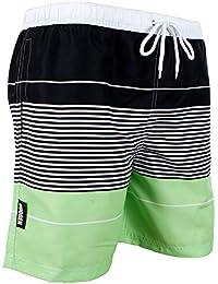 GUGGEN MOUNTAIN Herren Badeshorts Beachshorts Boardshorts Badehose gestreift *High Quality Print*