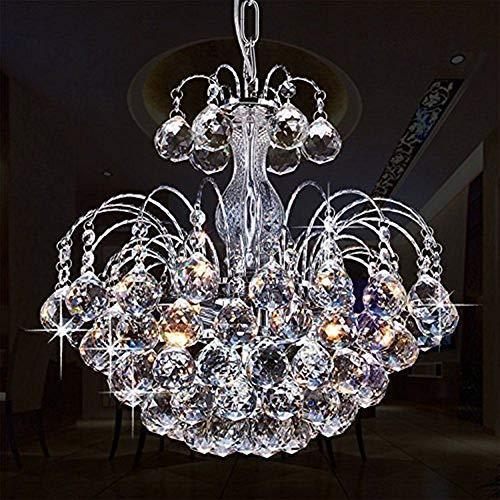 Glighone LED Kronleuchter Kristall Pendelleuchte Deckenleuchte Modern Anhänger Kristallkronleuchter Luxuriös 3pcs Leuchten ( Lichtquelle erhalten)