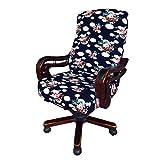 btsky dehnbar Abnehmbare die Tischplatte Stuhl Bezüge–modernen Simplism Stil Stuhl Displayschutzfolie mit Blume Muster für Bürostuhl drehbar Drehstuhl Sessel Computer Stuhl Armlehne Stuhl, groß (ohne Stühle)