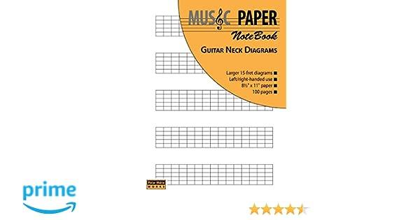 Music Paper Notebook Guitar Neck Diagrams Amazon Ashkan