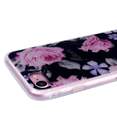 WE LOVE CASE Coque iPhone 8 Plus, Souple Gel Coque iPhone 8 Plus Silicone Paillette Glitter Brillant Motif Fine Coque Girly Resistante, Coque de Protection Bumper Coque Apple iPhone 8 Plus Mandala Mandala