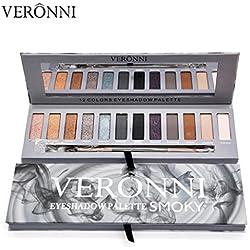 Gaddrt 12 couleurs chatoyantes Matte ombre à paupières Eye palette pinceau cosmétique ensemble