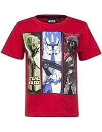 Star Wars Kollektion 2017 T-Shirt 104 110 116 122 128 134 140 146 Jungen Sturmtruppler Neu Yoda Darth Vader Stormtrooper Rot