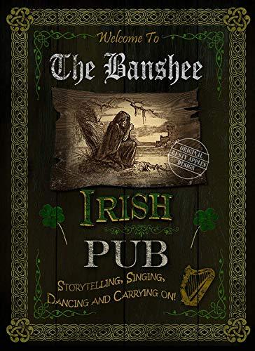 Irish Pub Schild The Banshee - Vintage - Stil Metallschild - 3 Größen zur Auswahl - Home Decor - einzigartiges Geschenk, 16