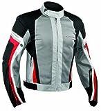 A-Pro A de verano Mesh–Chaqueta de moto deporte Motor Bike Racing Touring gris/rojo XXL
