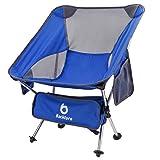 BACKTURE Campingstuhl, Ultraleicht Tragbar Leicht Faltbar Camping Stuhl bis zu 150 kg stark und haltbar für Backpacking/Wandern/Picknick/Fische