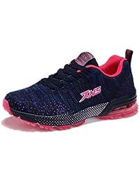 ZanYeing Zapatillas Deportivas ultraligeras Zapatos Deportivos de Los Planos Aire Libre Deportes Malla Respirable Zapatos Antisísmica de Tejidas Zapatos Para Correr Respirable Para Mujeres
