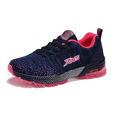 Damen Herren Sportschuhe Ultra Leichte Laufschuhe Rutschfeste Sneakers Mädchen Junge Schuhe mit Dämpfung Sommerschuhe Farbe:-Schwarzgelb Gr:-41 EU DJBxSQ