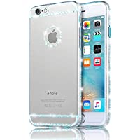 Sunroyal® iphone 6 plus 6S plus Back Cover, Bling Glitter Strass Transparent Custodia [Antiuroto] [Shock-Absorption] Ultra Slim Bumper Soft Morbido TPU Gel Silicone Protettiva Case Diamante Coperture Shell per Apple iphone 6 plus 6S plus 5.5