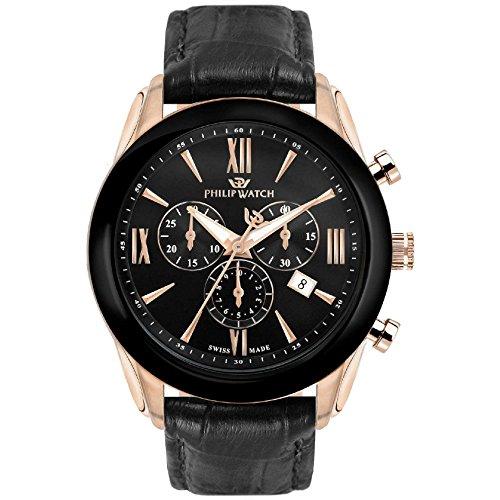 PHILIP WATCH Reloj Cronógrafo para Hombre de Cuarzo con Correa en Cuero R8271996007