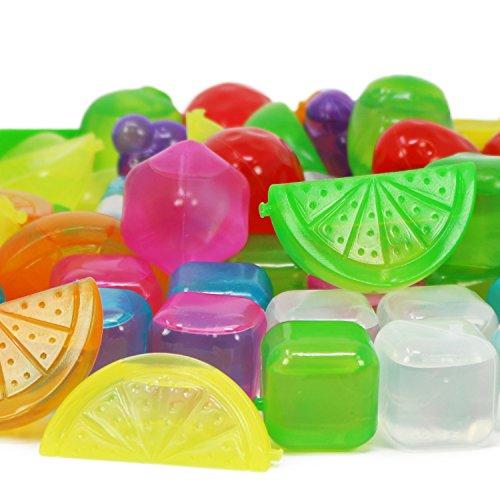 Com Four Wiederverwendbare Eiswrfel In Verschiedenen Designs Party Eiswrfel In Bunten Farben