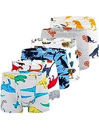 576c7a566c Auranso Boys Underwear, Dinosaur Truck Toddler Boys Boxer Shorts Briefs 6  Pack Baby Kids Cotton