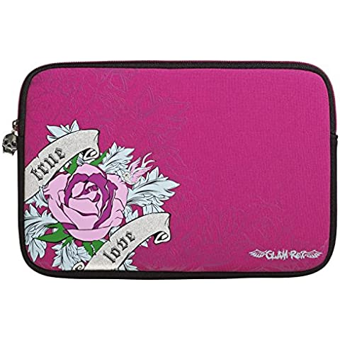 Glamrox Rosa Rose (15-16 Inch Laptop / Notebook) Neopreno Duradero Con Acolchado Case Zip Interior Suave / Case / Carcasa / Funda / Cubierta Para Sony VAIO Fit 15E