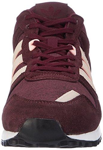 adidas Damen Zx 700 Sneaker Low Hals Braun (Maroon/haze Coral/night Red)