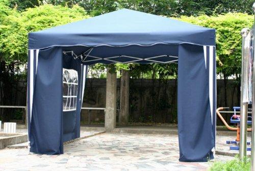 kronenburg falt pavillon dachma 3 x 3 m in blau mit 2 seitenteilen mwd. Black Bedroom Furniture Sets. Home Design Ideas