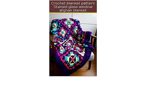 Crochet Blanket Pattern Stained Glass Window Afghan Blanket Ebook