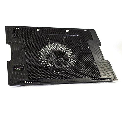 Tacens Anima ANBC2 - Base de refrigeración para portátil (ventilador 14 cm, 17 pulgadas, ultrasilencioso, 5 posiciones) color negro