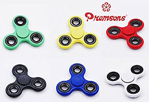 Premsons-Fidget608-Four-Bearing-Hand-Spinner-Toy-with-Silver-Steel-Wing-Bearings-Black